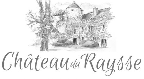 Chateau du Raysse logo for home page dark grey